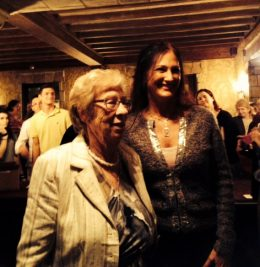 Maura Sweeney interviews author Eva Schloss, stepsister of Anne Frank, on Happiness after the Holocaust at St. Petersburg, FL Paladium Theater.