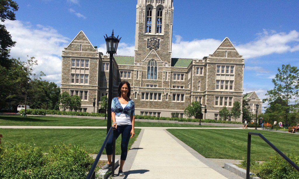 On the pristine campus of  my alma mater Boston College